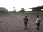 Evening futbol with Diego, Diago, and some youth group members