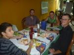 Numerous Nicaraguan specialties were enjoyed around this table