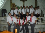 Singing with the choir at a quince años celebration and multiple masses