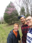 Attempting to capture the blossoming redbud trees