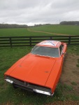 """A General Lee Charger, famous in the movie """"The Dukes of Hazzard"""""""